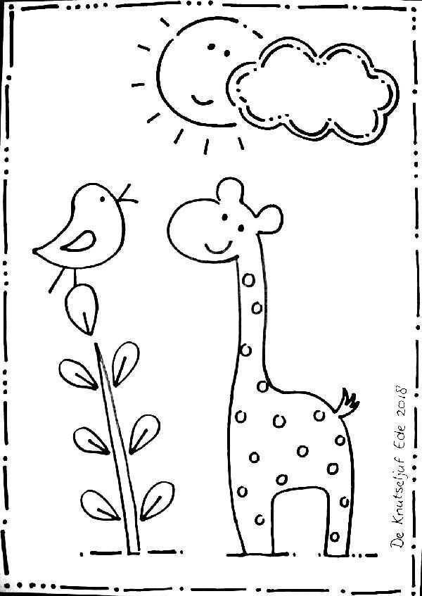 Kleurplaat Zon Giraffe En Vogeltje Made By De Knutseljuf Ede Kleurplaten Dieren Kleurplaten Kleurplaten Voor Kinderen