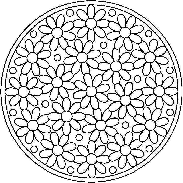 Mandala101bloemen Gif Jpg 719 718 Mandala Kleurplaten Perkamentkunst Bloem Kleurplaten