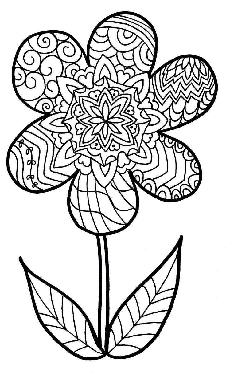 Moeilijke Bloem Bloemen Kleurplaten Bloem Kleurplaten Gratis Kleurplaten