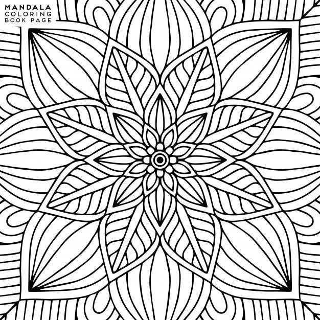 Mandala Kleurplaat Mandala Kleurplaten Bloemen Mandala Mandala