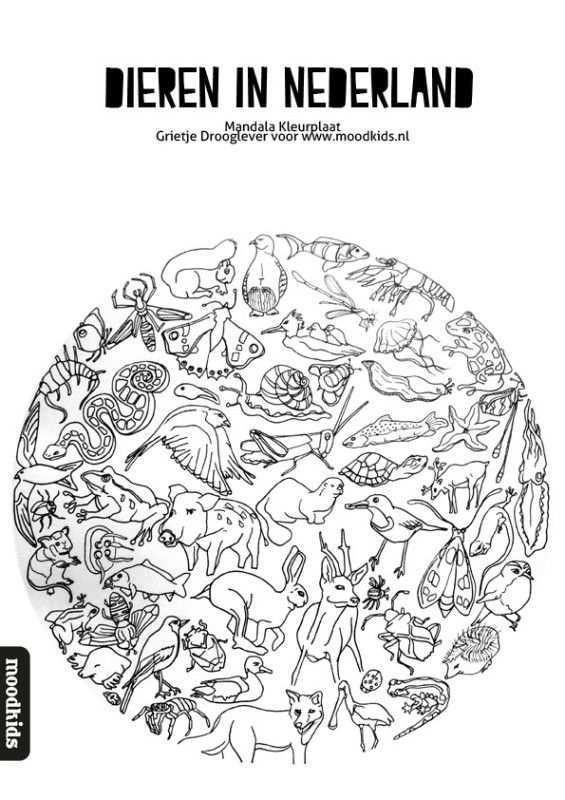Mandala Dieren Kleurplaat Gratis Download Dieren Kleurplaten Mandala Kleurplaten Dieren