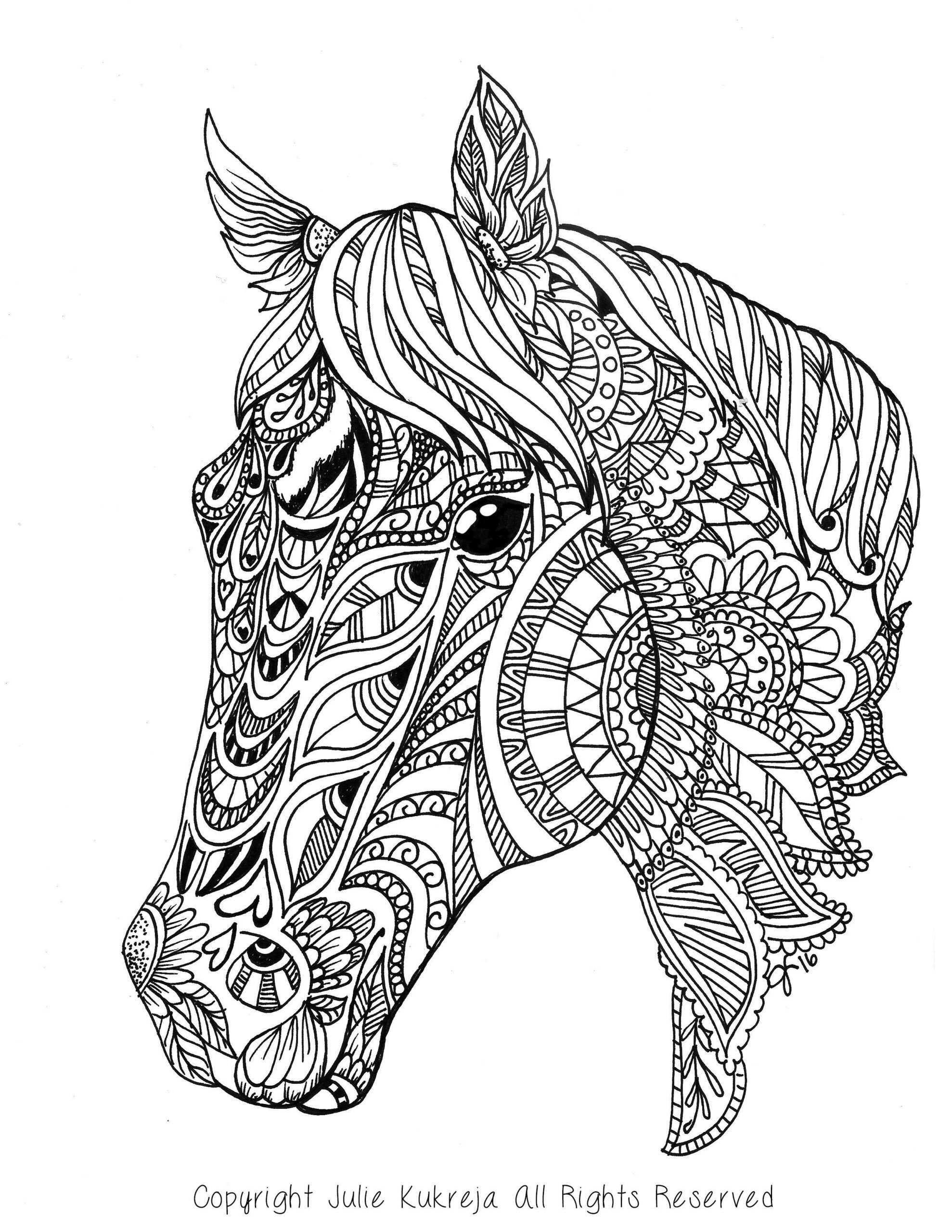 Mandala Paarden Kleurplaten