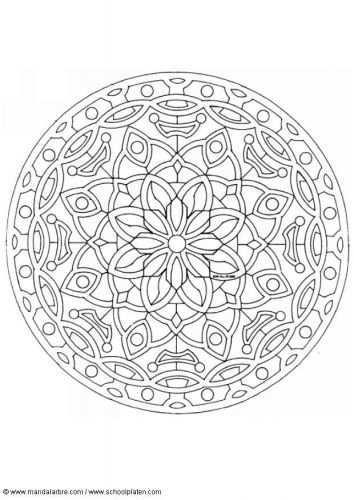 Kleurplaat Mandala 1602c Afb 4502 Mandala Kleurplaten Mandala Kleurplaten