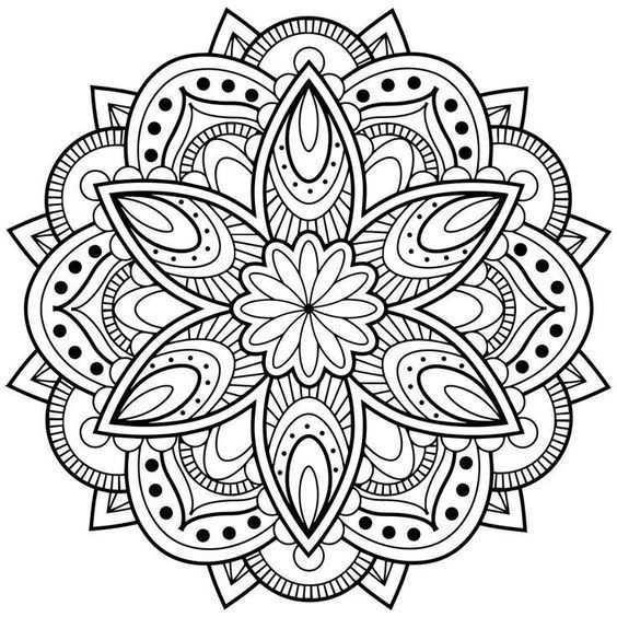 Mindfulness Mandala Kleurplaat Mandala Kleurplaten Boek Bladzijden Kleuren Abstracte Kleurplaten