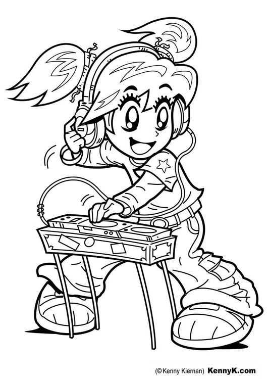 Kleurplaat Dj Afb 20078 Graffiti Characters Coloring Pages Cute Coloring Pages
