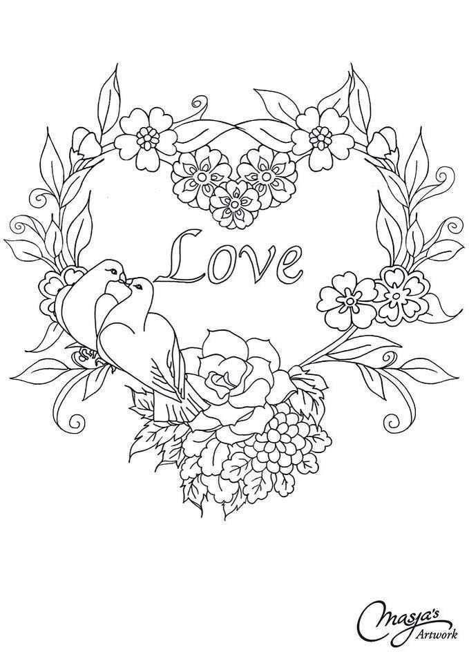 Valentijnhart Kleurpotloodtekeningen Mandala Kleurplaten Kaarten Maken Stempels