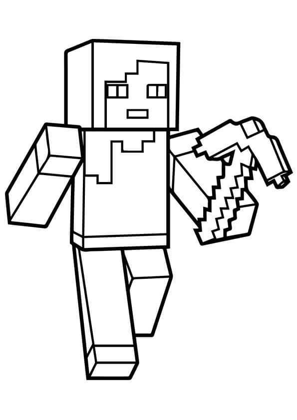 Minecraft Alex Coloring Page Minecraft Coloring Pages Minecraft Printables Free Printable Coloring Pages