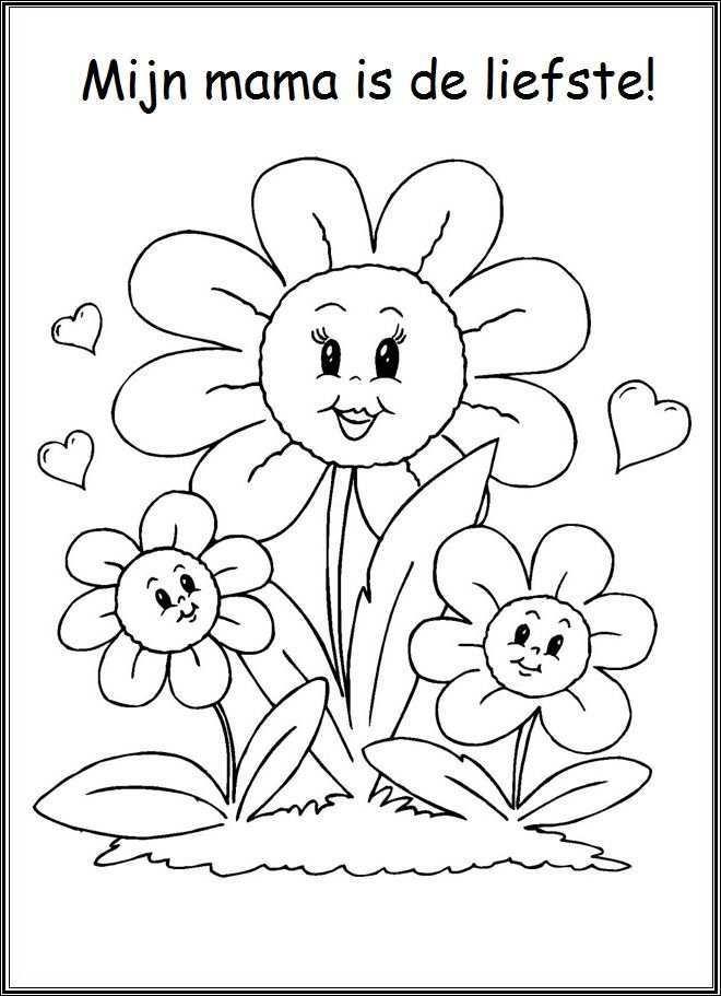 Pin Van Eloiza Lima Op Lente Mama Knutselen Voor Moederdag Bloemen Kleurplaten Boek Bladzijden Kleuren