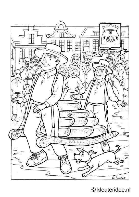Kleurplaat Alkmaar Kleuteridee Nl Alkmaar Coloring Kerstkleurplaten Kleurplaten Nederland