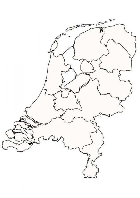 Kleurplaat Nederland Afb 9997 Aardrijkskunde Nederland Prints
