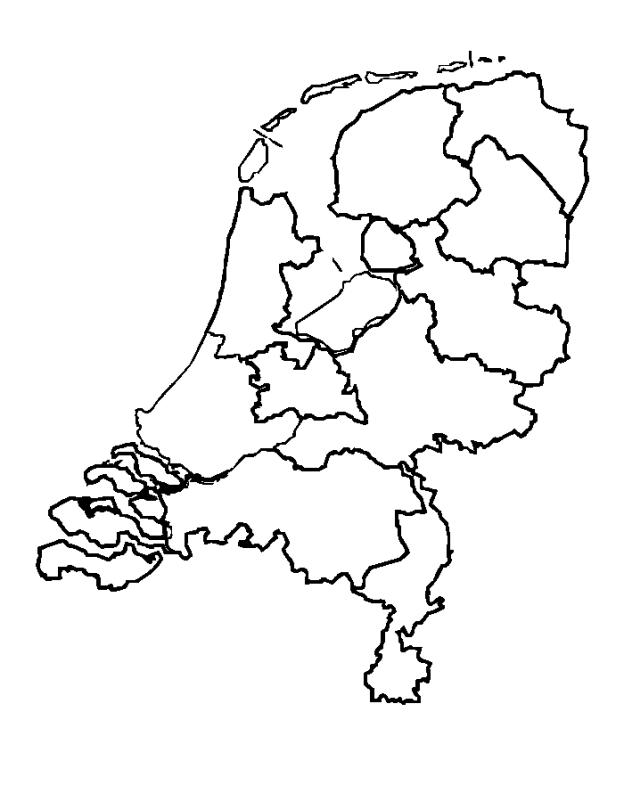 Nederland Kaart Nederland Kleurplaten Kleurboek