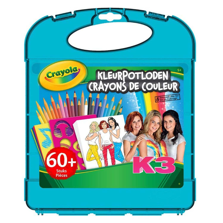 Crayola K3 Kleurpotloden Tekenkoffer Kleurpotloden Knutselpapier Kleurplaten
