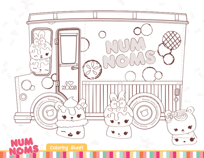 Num Noms Coloring Sheets Are A Cute Addition To A Num Noms Themed Birthday Party Your Gues Valentines Day Coloring Page Coloring Pages For Kids Coloring Pages