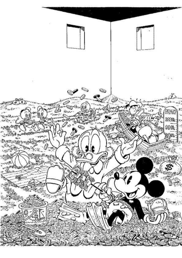 Print Dagobert Duck Kleurplaat Kleurplaten Disney Kleurplaten Disney Schilderijen