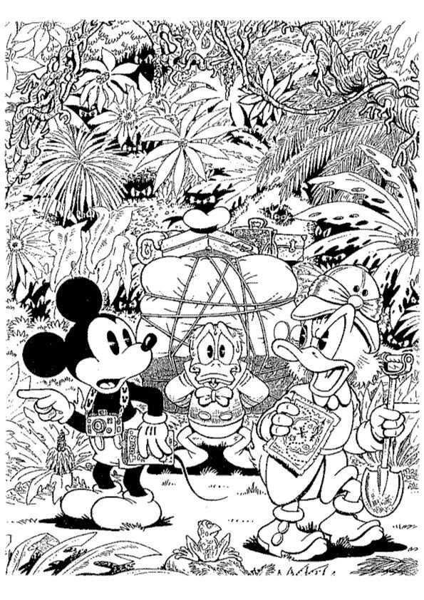 Print Dagobert Duck Kleurplaat Kleurplaten Kleurboek Disney Kleurplaten