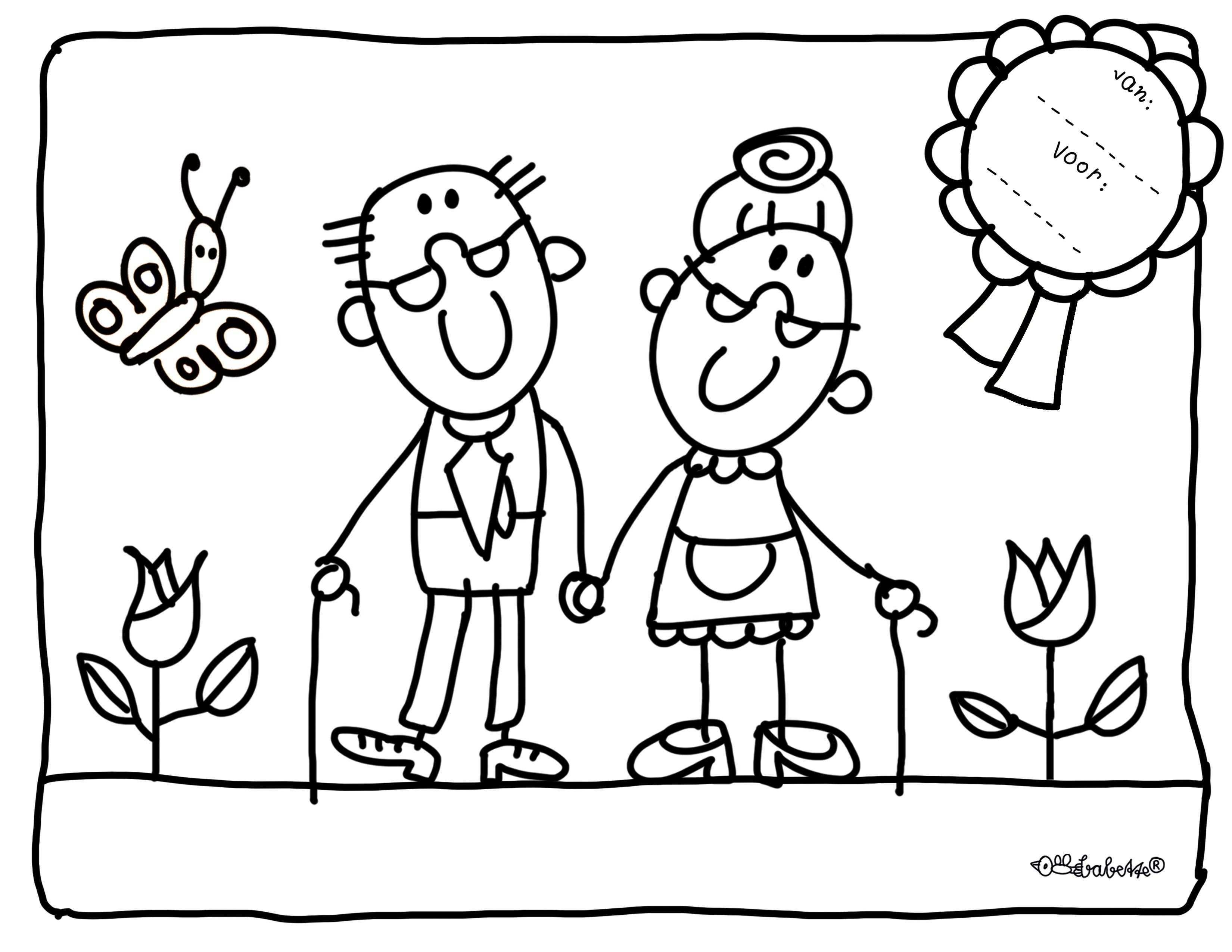 Kleurplaat Opa En Oma Jpg 3 300 2 550 Pixels Knutselen Opa En Oma Knutselen Voor Opa Kleurboek