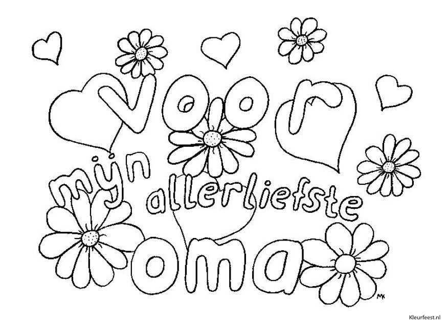 Kleurplaat Verjaardag Oma Google Zoeken Kleuren Pinterest Happy Day Free Prints And Adult Coloring