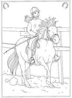 Kids N Fun 24 Kleurplaten Van Op De Manege Kleurplaten Paarden