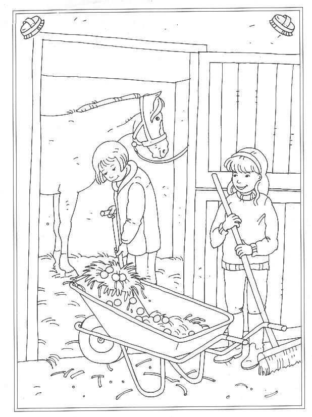 Kids N Fun 24 Coloring Pages Of At The Stables Horse Coloring Pages Horse Coloring Books Coloring Pages