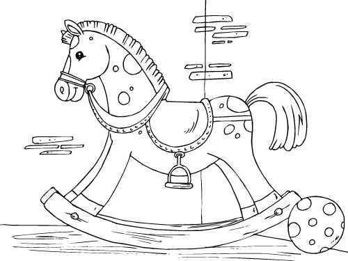 Kleurplaat Schommelpaard Afb 22825 Kleurplaten Gratis Kleurplaten Paard Silhouet