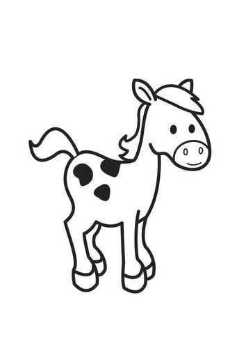 Kleurplaat Paard Afb 18002 Kleurplaten Paarden Dieren Kleurplaten