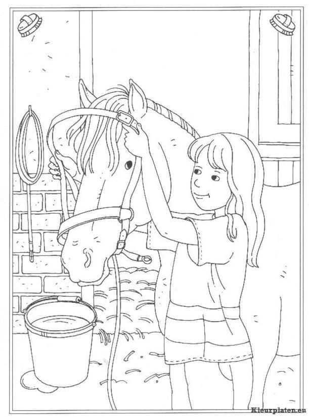 Pin Van Marie Agnes Pitard Op Embroidery Horses Etc Kleurplaten Kleurboek Paardknutsels
