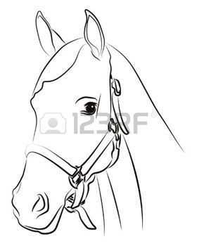 Horse Head Stock Photos Images Royalty Free Horse Head Images And Pictures Paard Silhouet Paard Tekeningen Paarden