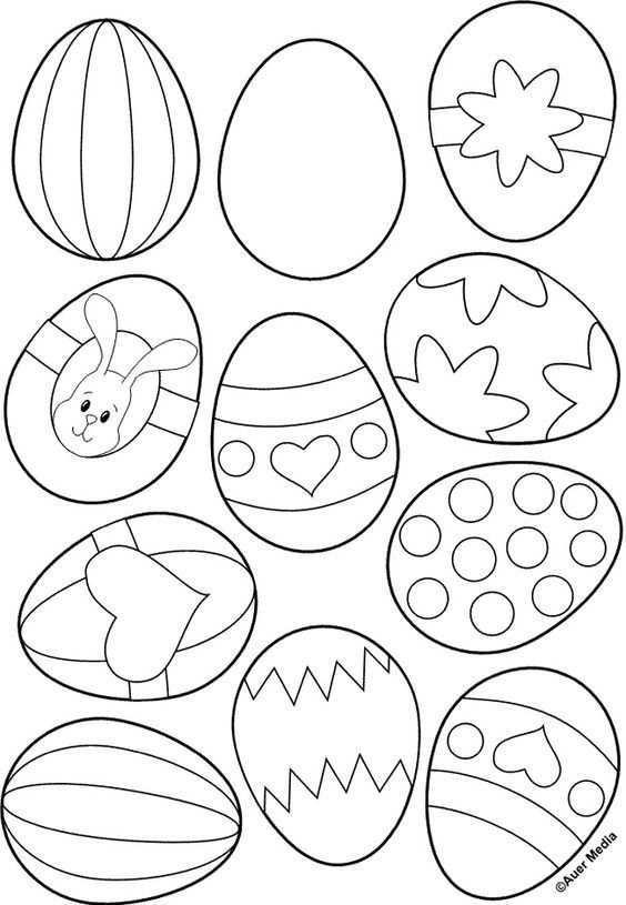 Kleurplaat Voor Paaseieren Knutselen Pasen Knutselen Voor Pasen Pasen