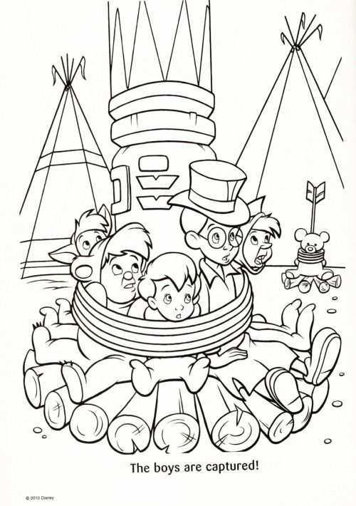 Kleurplaat De Jongens Peter Pan Peter Pan Coloring Pages Disney Coloring Pages Peter Pan Art