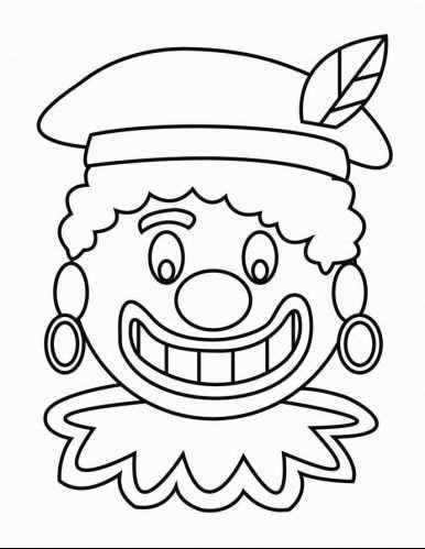 Kleurplaat Zwarte Piet Gezicht 2 Afb 16166 Zwarte Piet Knutselen Sinterklaas Sinterklaas