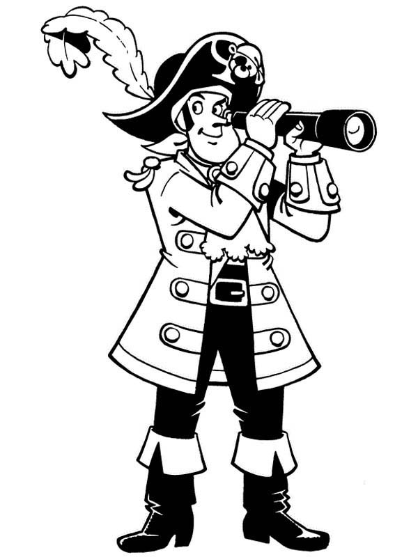 Piet Pirate Using Telescope Coloring Pages Bulk Color In 2020 Pirate Coloring Pages Fathers Day Coloring Page Coloring Pages