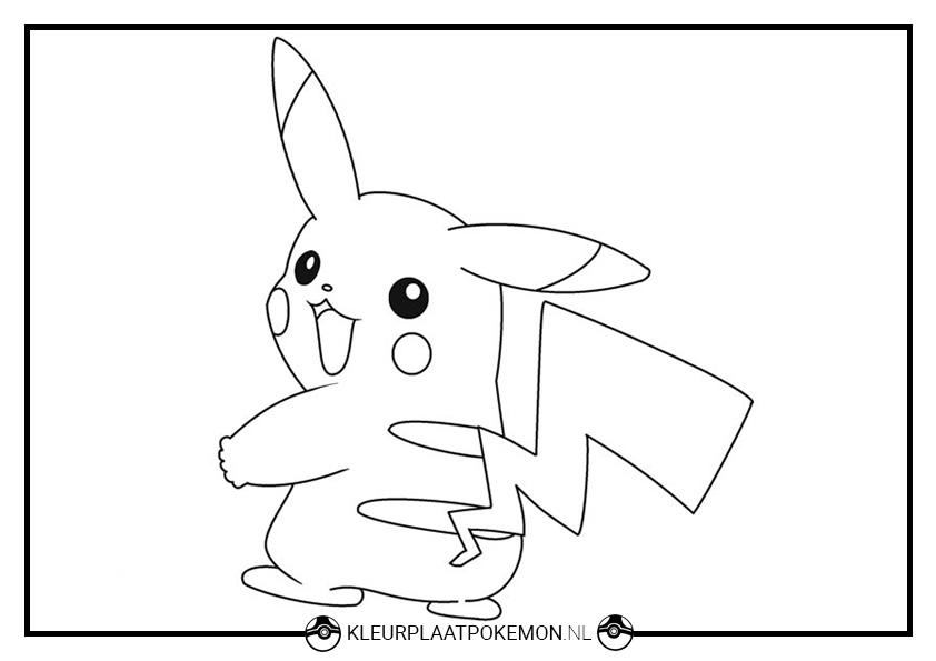 60 Pikachu Kleurplaten Kleurplaat Pokemon Pikachu Kleurplaten Pokemon