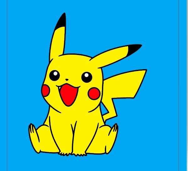 Pikachu Kleurplaten