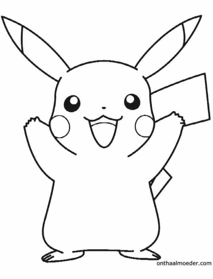 Kleurplaat Pikachu Pokemon Kleurplaten Pikachu Cartoon Tekeningen