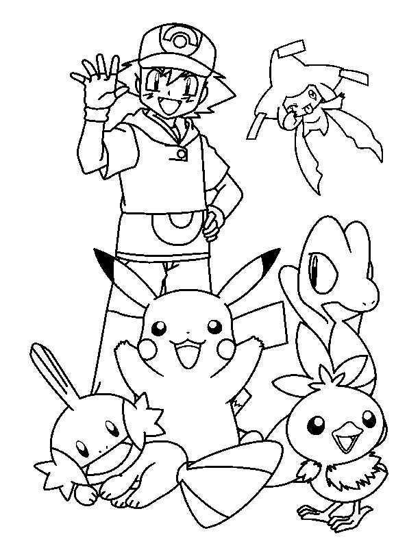 Kleurplaat Vrienden Van Pokemon Kleurplaten Pokemon Kleuren