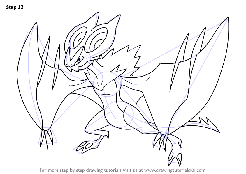 Learn How To Draw Noivern From Pokemon Pokemon Step By Step Drawing Tutorials Drawings Anime Drawings Sketches Drawing Tutorial