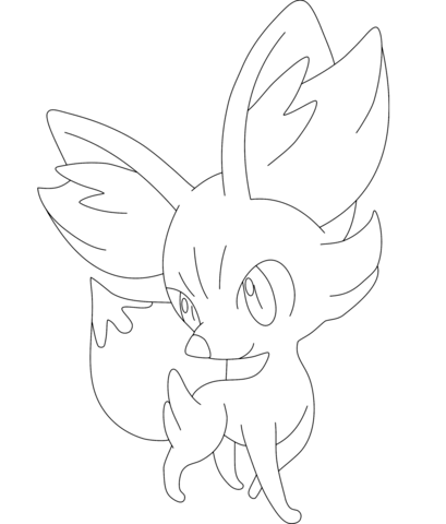 Fennekin Coloring Page Pokemon Coloring Pages Pokemon Coloring Cute Coloring Pages