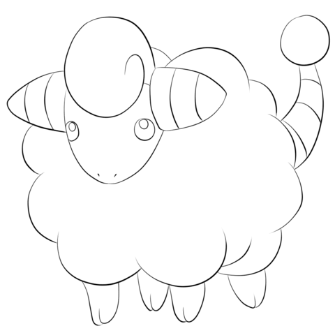 Click To See Printable Version Of Mareep Coloring Page Coloring Pages Pokemon Coloring Pages Free Printable Coloring Pages