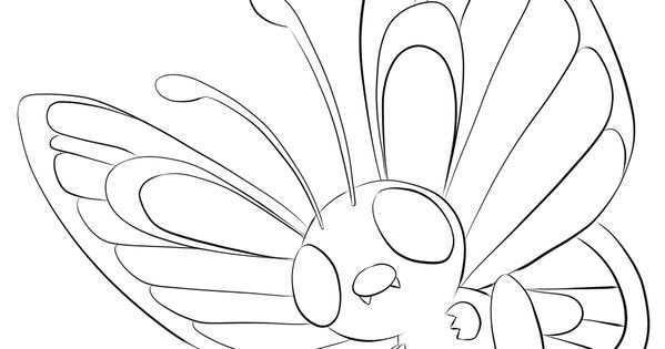 012 Butterfree Pokemon Kleurplaat Kleurplaten Gratis Kleurplaten Pokemon