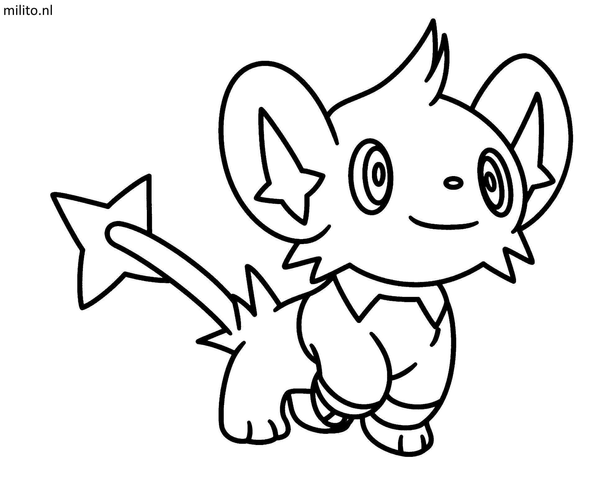 Kleurplaat Pokemon Shinx De Mooiste Kleurplaten Milito Nl