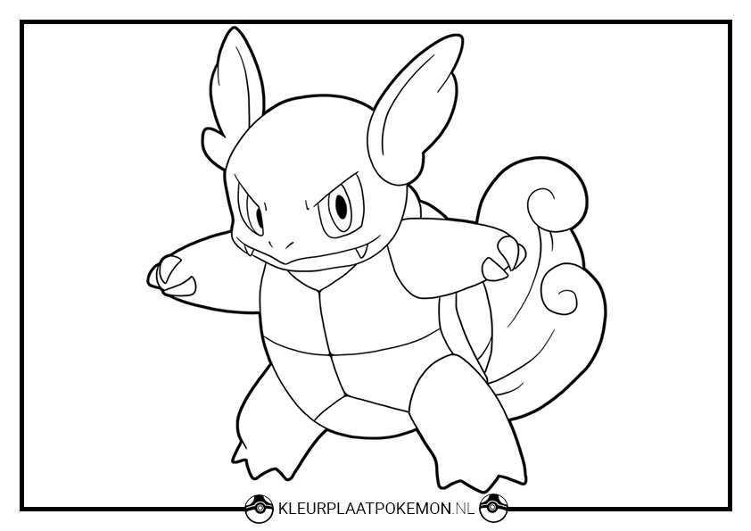 Wartortle Kleurplaten Gratis Printen Kleurplaat Pokemon