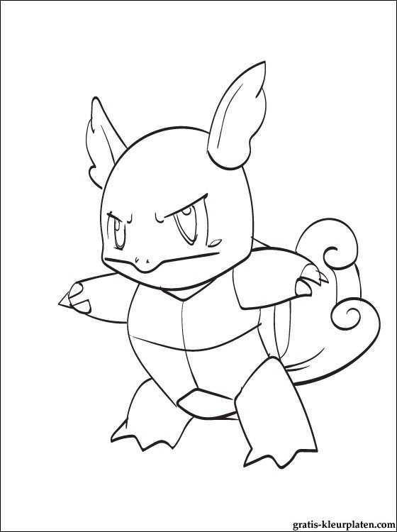 Kleurplaat Van Pokemon Wartortle Gratis Kleurplaten