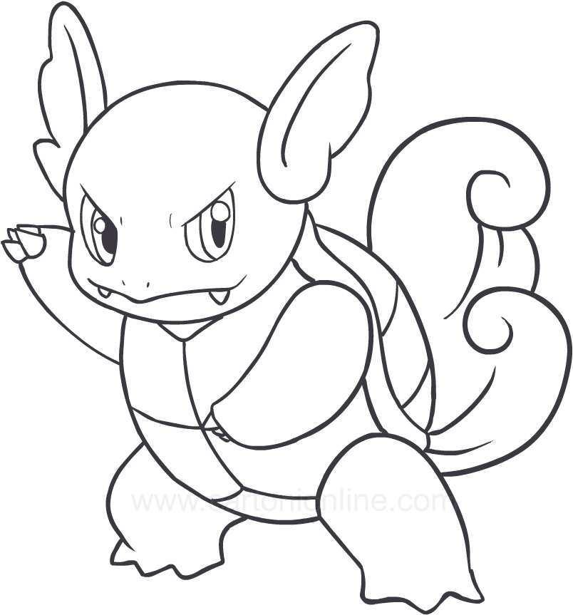 Pokemon Wartortle Kleurplaat