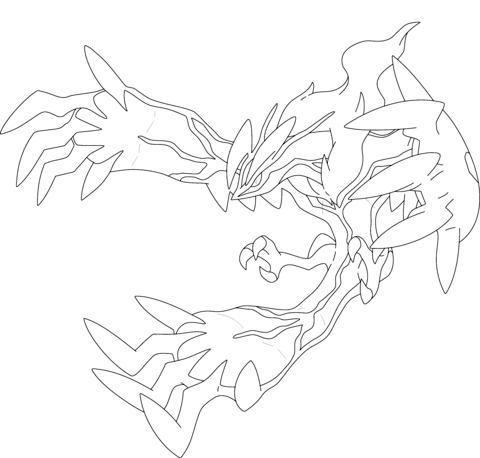 Yveltal Coloring Page Pokemon Coloring Pages Pokemon Coloring Moon Coloring Pages