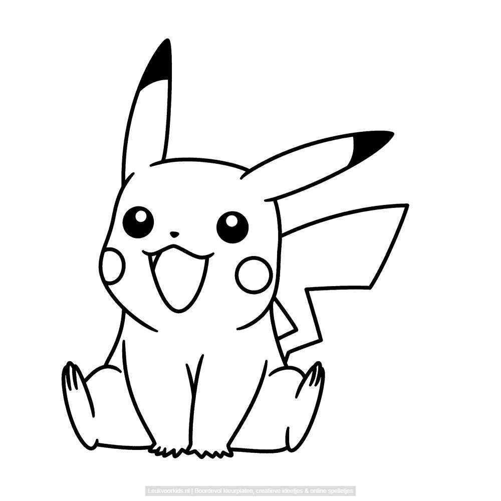 Leuk Voor Kids Pikachu Pikachu Pokemon Kleurplaten Voor Volwassenen