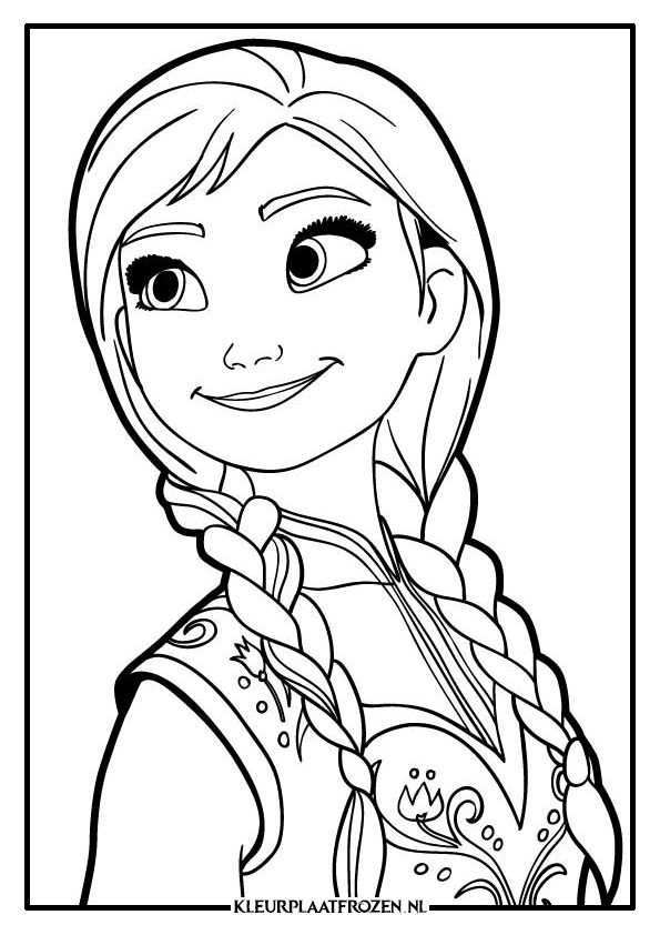 Anna Kleurplaat Frozen Kleurplaten Kleurplaten Prinses Kleurplaatjes