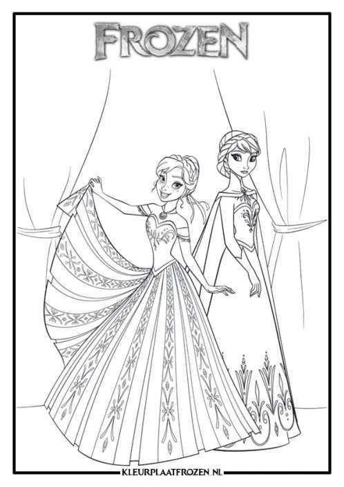 Anna En Elsa Kleurplaat Prinses Kleurplaatjes Frozen Kleurplaten Elsa