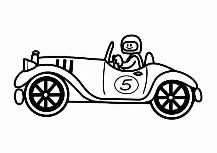 Kleurplaat Oldtimer Raceauto Afb 24112 Coloring Pages Color Digi Stamps