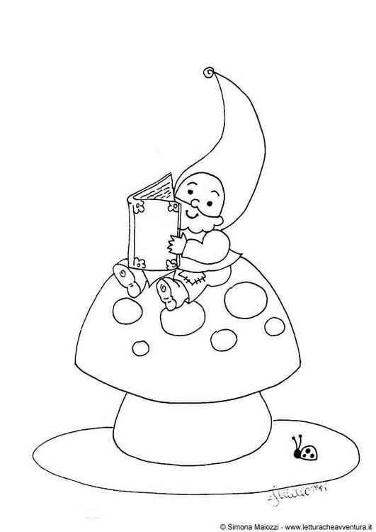 Pin Van Ludi Fuertes Garcia Op Gnomes Kabouter Gnomen Kleurplaten