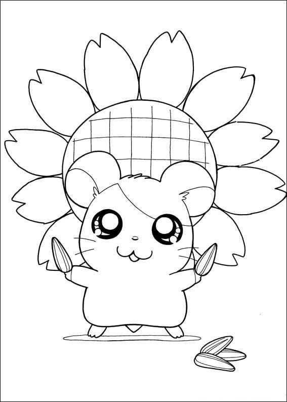 Coloring Page Hamtaro Hamtaro Cute Coloring Pages Pokemon Coloring Pages Hamtaro